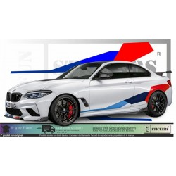 BMW Serie 1 3 5 6 7  Style M Performance autocollants adhésifs Fun stickers ki