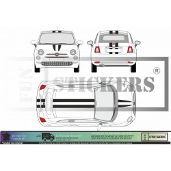 Fiat 500 - Bandes latérales