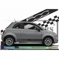 Fiat 500 - Bandes damiers