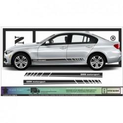 BMW M - Série 1 2 3 4 5 6 7 X1 X2 X3 X4 X5 X6 Bandes de Bas de Caisse  autocollants adhésifs Fun stickers ki