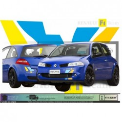 Renault Megane 2 F1 TEAM  -  kit complet  - Tuning Sticker Autocollant Graphic Decals