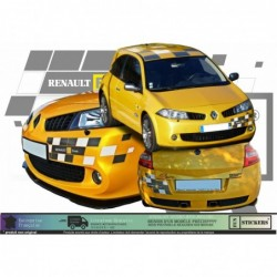 Renault Megane 2 RS F1 TEAM  -  kit complet  - Tuning Sticker Autocollant Graphic Decals