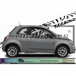 Fiat 500  bandes latérales...