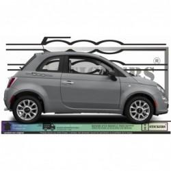 Fiat 500  Bandes Abarth Bas...