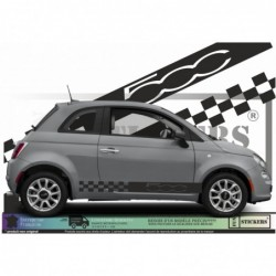 Fiat 500  Bandes damiers...